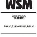 Kubota B1830 B3030 Tractor Workshop Manual