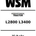 Kubota L2800 L3400 Service Manual