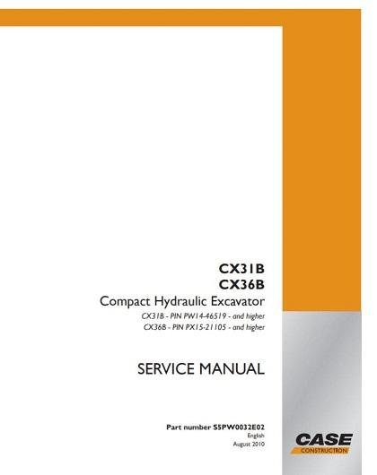 Case Cx31b Service Manual