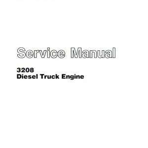 Caterpillar 3208 Diesel Truck Engine Service Manual
