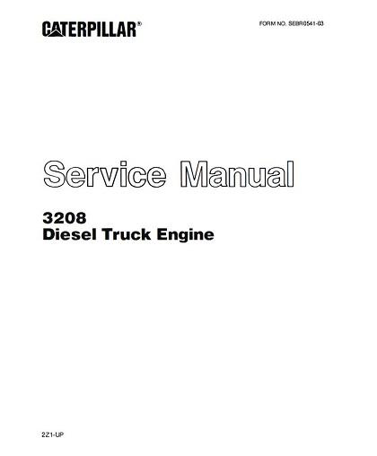 Caterpillar 3208 Diesel Truck Engine Service Manual