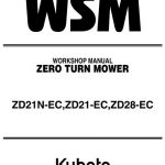 Kubota ZD21N-EC Workshop Manual