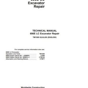 John Deere 690E LC Excavator Repair Technical Manual
