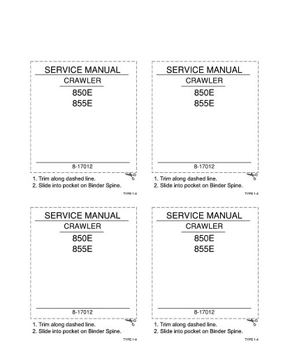 Case 850E 855E Crawler Dozer Service Manual