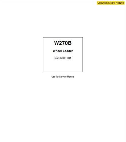 New Holland W270B Workshop Manual