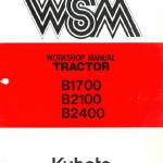 Kubota B1700, B2100, B2400 Tractor Workshop Manual