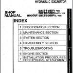 Kobelco SK115SR,SK135SR Hydraulic Excavator Shop Manual