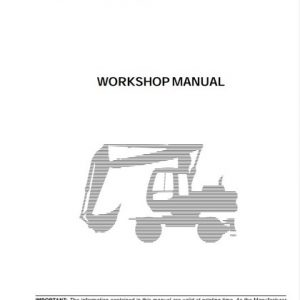 Fiat Hitachi Excavators EX165W Workshop Manual