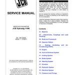 JCB Hydradig 110W Wheeled Excavator Service Manual