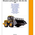 JCB 426, 435, 436, 446 Wheeled Loader Service Manual