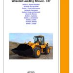 JCB 457 Wheeled Loading Shovel Service Manual