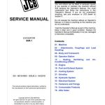 JCB 65R-1 Midi Excavator Service Repair Manual