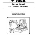 Bobcat 335 Compact Excavator Service Repair Manual