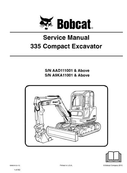 Bobcat 335 Compact Excavator Service Repair Manual