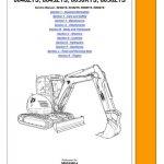 JCB 8040ZTS, 8045ZTS, 8050ZTS, 8050RTS Mini Crawler Excavator Service Manual