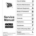JCB 8052, 8060 Midi Excavator Service Manual