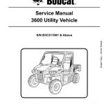 Bobcat 3600 Utility Vehicle Service Repair Manual