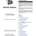JCB 135, 155, 175, 190, 205 Skid-Steer Loader Service Manual