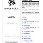 JCB JCB305, JS305 Excavator Service Repair Manual