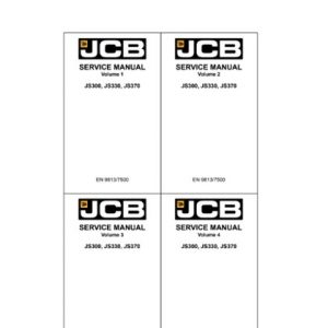 JCB JS300, JS330, JS370 Tracked Excavators Service Manual
