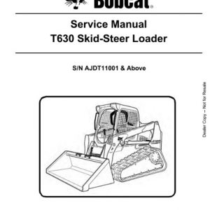 Bobcat T630 Skid-Steer Loader Service Manual