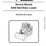 Bobcat S450 Skid - Steer Loader Service Manual