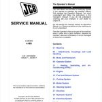 JCB 419S Wheel Loader Service Repair Manual