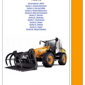 JCB TM310, TM310S, TM310WM Telescopic Wheeled Loader Service Manual