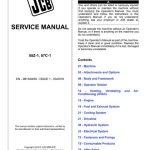 JCB 55Z-1, 57C-1 MINI EXCAVATOR Service Manual