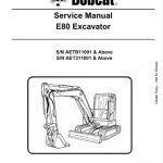 Bobcat E80 Excavator Service Repair Manual
