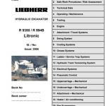 Liebherr R994B R9350 Litronic Excavator Service Manual