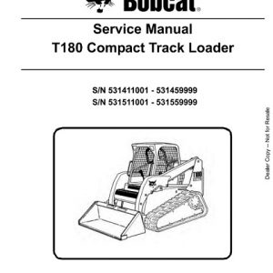 Bobcat T180 Compact Track Loader Service Manual