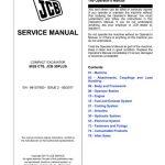 JCB 8026 CTS, JCB 30PLUS Compact Excavator Service Manual
