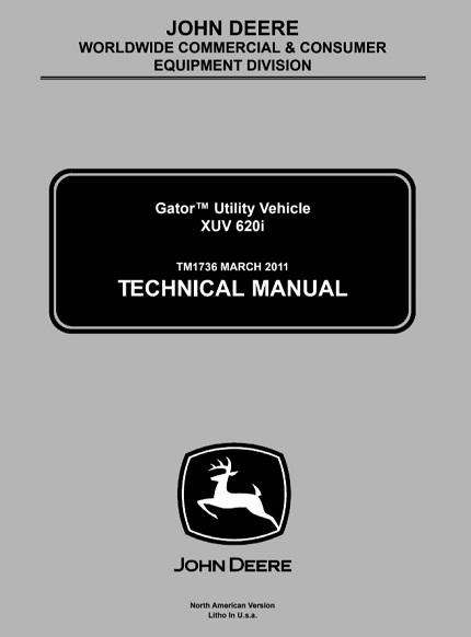 John Deere XUV 620i Gator Utility Vehicle Technical Manual